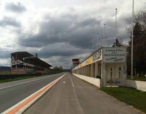 Reims-Gueux - The pit boxes and stands of the former Reims-Gueux circuit pictured in 2016