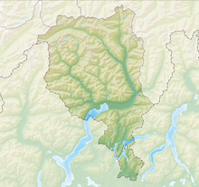 Relief map: Canton of Ticino