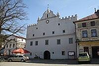 Renaissance townhall in Brtnice, Jihlava District.jpg
