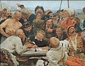 Reply of the Zaporozhian Cossacks (sketch, 1880-90, GTG).JPG