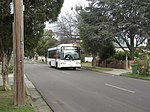 Photo of a Reservoir Bus Company 29 Volgren CR222L bodied Volvo B10BLE (3146 AO) on route 555 to Epping Plaza in Oakhill Avenue, East Preston, Victoria, Australia, 2010.