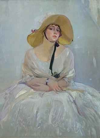 Raquel Meller - Painting of Raquel Meller by Joaquín Sorolla (1918)
