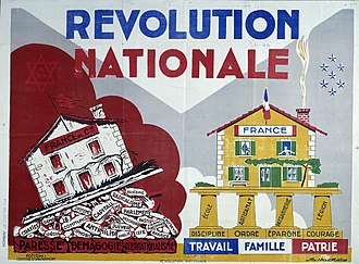 Révolution nationale - propaganda poster for the Vichy Regime's 'Revolution Nationale' program