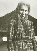 Maria Plop (soția lui Toma Arnăuțoiu), Munții Făgăraș (sud).