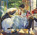 Richard Edward Miller - Lady reading.jpg