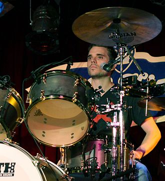 Richard Lee Jackson - Jackson playing drums with Enation in 2013.