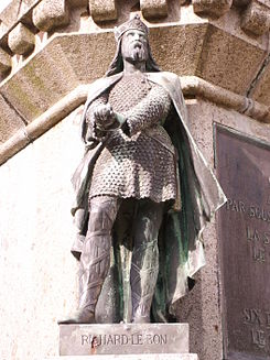 Richard good statue in falaise.JPG