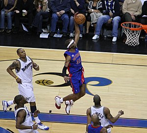 Richard Hamilton (basketball) - Hamilton dunks the basketball in 2008