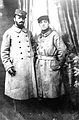 Robert Antoine Pinchon (left) and a friend as prisoners of war in World War I, Germany c. 1917.jpg