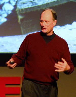 Robert Ballard - Giving a presentation on the importance of exploring the oceans at TED 2008