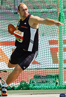 Discus throw event in track and field athletics