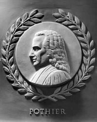 Robert Joseph Pothier bas-relief in the U.S. House of Representatives chamber.jpg