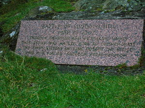 Battle of Loudoun Hill - Image: Robert the Bruce Memorial Loudoun Hill