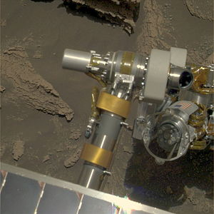 Rock Abrasion Tool - Rock Abrasion Tool (RAT) on the Mars Rover ''Opportunity''{{'}}s Instrument Deployment Device.