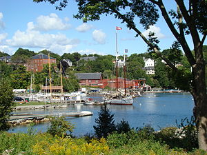 Rockport, Maine - View of Rockport Harbor