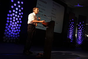 Government Medical College, Thiruvananthapuram - Nobel laureate Rolf Zinkernagel speaking at Erudite Conclave 2011