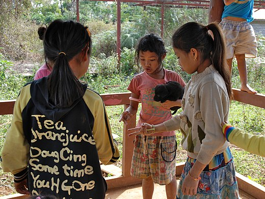 Rock-paper-scissors is an example of a simultaneous game. Roshambo-Laos.jpg