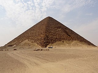 Red Pyramid Smooth-sided pyramid constructed by Pharaoh Sneferu