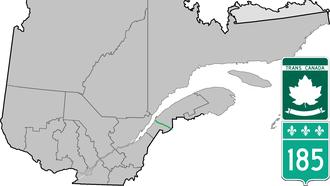 Quebec Route 185 - Image: Route 185 QC