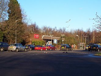 Rownhams services - The eastbound services building.