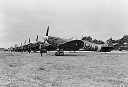 Supermarine Spitfire Mk V of No. 350 (Belgian) Squadron at RAF Kenley during the Second World War.