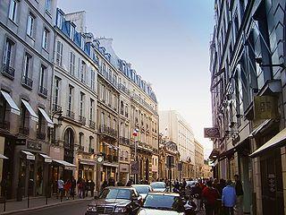 Rue du Faubourg Saint-Honoré street in Paris, France