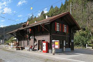 Trin (Rhaetian Railway station) - Image: Ruinaulta Rh B Station Trin