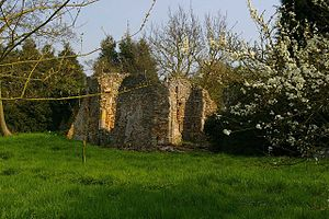 1884 Colchester earthquake - Ruins of Virley church, destroyed in the earthquake
