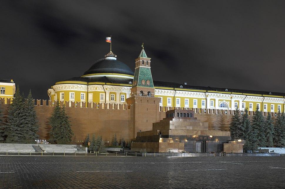 Russia-2007-Moscow-Kremlin Senate at night