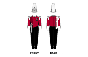 Rutgers University Marching Scarlet Knights - Image: Rutgers Marching Band Uniform