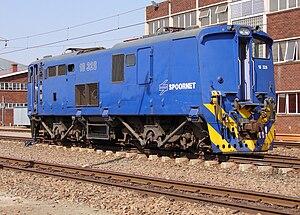 South African Class 6E1, Series 9 - Cab 1 of Class 18E no. 18-328, ex Class 6E1 no. E2071, Sentrarand, Gauteng, 22 September 2009
