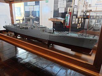 SAS President Kruger - Model of SAS President Kruger at the South African Naval Museum in Simonstown