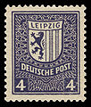 SBZ West-Sachsen 1946 157 Leipzig, Stadtwappen.jpg
