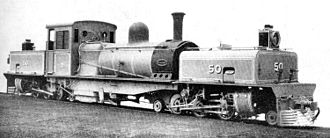 Sierra Leone Government Railway - Beyer, Peacock works photo of SLGR Garratt locomotive no 50, taken in 1926.