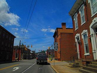 Pennsylvania Route 35 - PA 35 through downtown Mifflintown