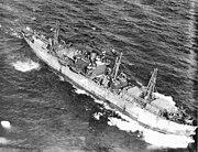 SS John W. Brown aerial photo