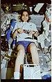 STS087-319-027 - STS-087 - Chawla exercises on the middeck ergometer - DPLA - 4b85b87059397ce38662c0594c33b079.jpg