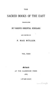 Sacred Books of the East - Volume 31.djvu