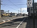 Saga Prefectural Road No.23 in front of Nishi-Karatsu Station 2.jpg