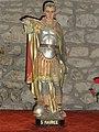 Saint-Maurice-près-Pionsat (Puy-de-Dôme) église statue saint Maurice 1.JPG