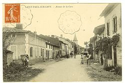 Saint-Paul-sur-Save - Avenue de la Gare - carte postale (1).jpg