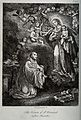 Saint Bernard of Clairvaux. Reproduction of etching by A. Ja Wellcome V0031721.jpg