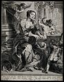 Saint Cecilia. Engraving by J. Witdoeck after Sir P.P. Ruben Wellcome V0031859.jpg