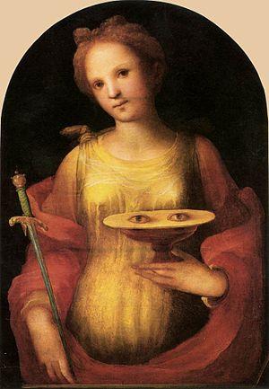 Domenico Beccafumi, Saint Lucy. Pinacoteca Naz...