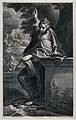 Saint Margaret. Engraving by C. Bloemaert after Annibale Car Wellcome V0033511.jpg