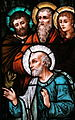 Saint Raphael Catholic Church (Springfield, Ohio) - stained glass, Upon this Rock, detail - St. Peter and the Apostles.jpg