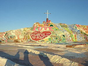 Birds (Coldplay song) - Salvation Mountain, where the video was filmed.