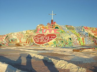 """Praying (song) - The music video for """"Praying"""" was partially shot at Salvation Mountain."""