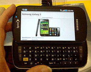 English: Samsung Galaxy S, Sprint version, in ...