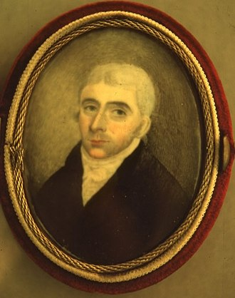 Samuel Holten - Oil-on-ivory miniature, circa 1790.  Danvers Archival Center, Peabody Institute Library